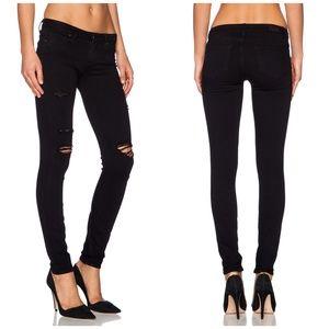 Paige Verdugo Ankle Skinny Jeans Destruced Black